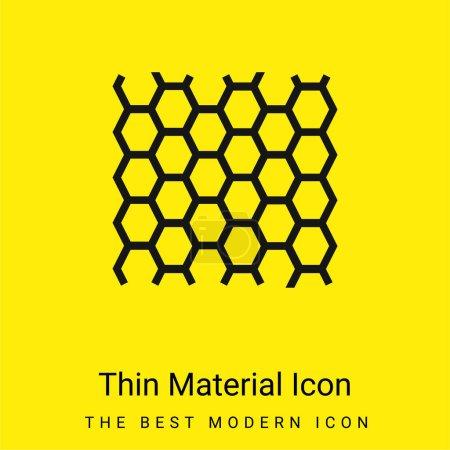 Photo pour Texture du panneau d'abeilles icône matérielle jaune vif minimale - image libre de droit