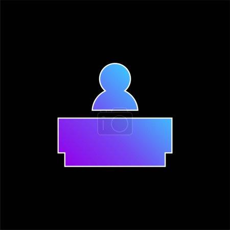 Photo pour Icône vectorielle de dégradé bleu patron - image libre de droit
