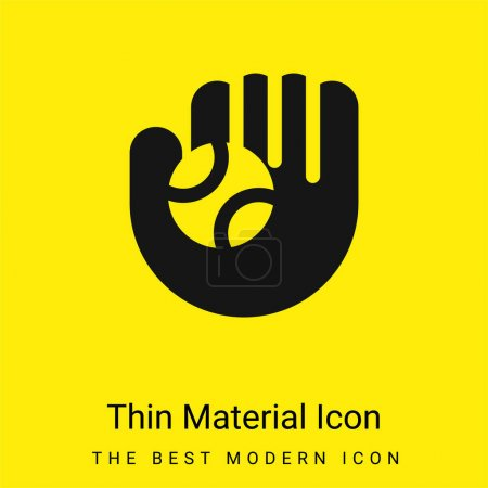Gant de baseball minime icône matérielle jaune vif