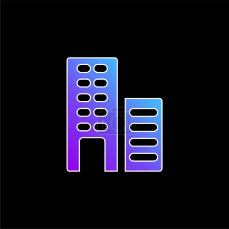 Illustration for Apartments blue gradient vector icon - Royalty Free Image