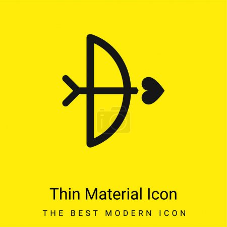 Bow And Arrow minimal bright yellow material icon