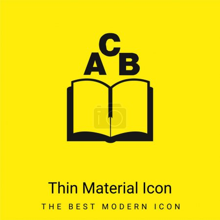 Illustration for ABC Book minimal bright yellow material icon - Royalty Free Image