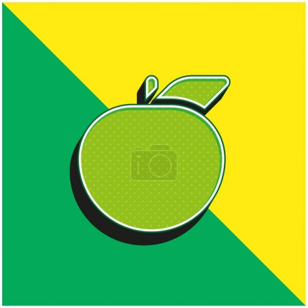 Illustration for Apple Green and yellow modern 3d vector icon logo - Royalty Free Image