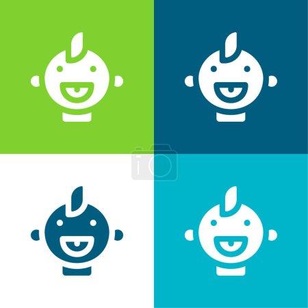 Baby Flat four color minimal icon set