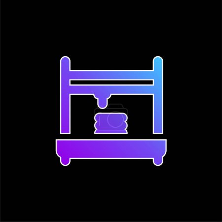 Illustration pour Icône vectorielle de dégradé bleu imprimante 3d - image libre de droit