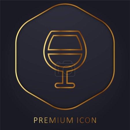 Illustration pour Barre d'or ligne premium logo ou icône - image libre de droit