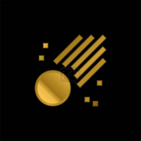 Photo for Asteroid gold plated metalic icon or logo vector - Royalty Free Image