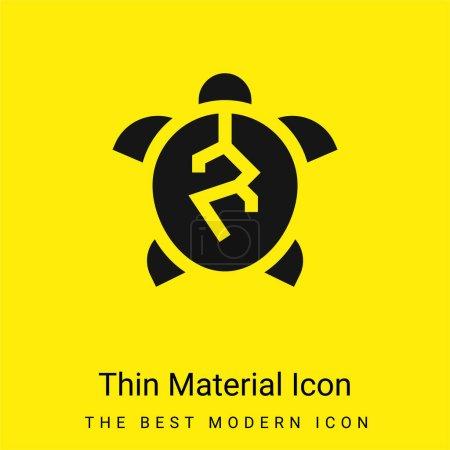 Animal Cruelty minimal bright yellow material icon