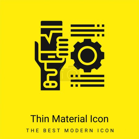 Addiction minime icône matériau jaune vif