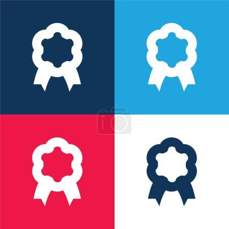 Illustration pour Prix bleu et rouge quatre couleurs minimum jeu d'icônes - image libre de droit