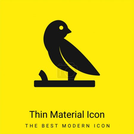 Bird On A Branch minimal bright yellow material icon