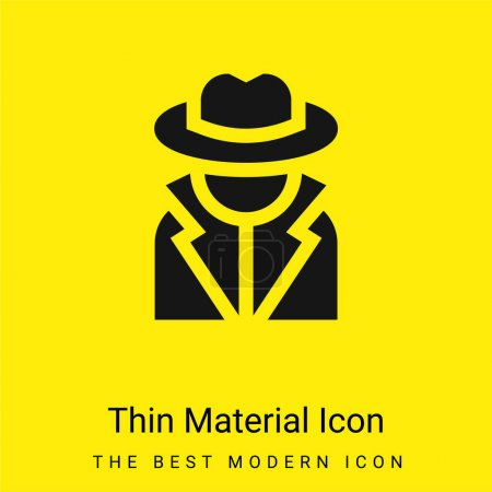 Illustration for Annonymous minimal bright yellow material icon - Royalty Free Image