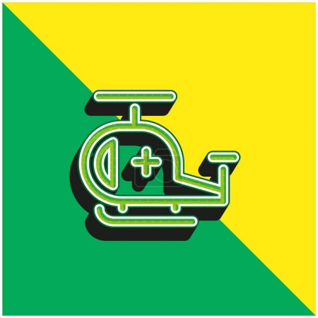 Illustration for Air Ambulance Green and yellow modern 3d vector icon logo - Royalty Free Image