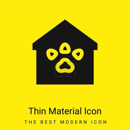 Illustration pour Animal Shelter minime icône de matériau jaune vif - image libre de droit