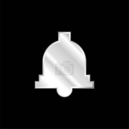 Illustration pour Icône métallique argentée Bell - image libre de droit