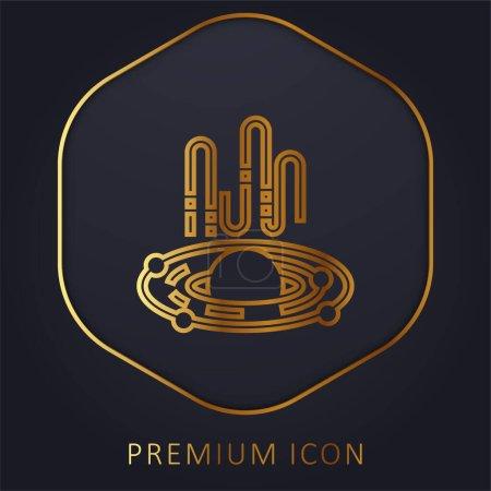 Photo pour Trou noir ligne d'or logo premium ou icône - image libre de droit