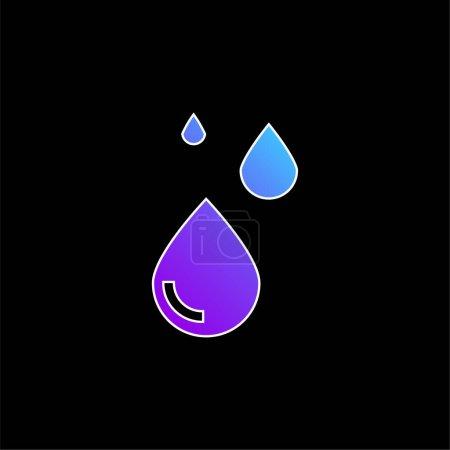 Illustration pour Icône vectorielle de dégradé bleu sang - image libre de droit