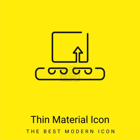 Box On Band Conveyor Logistics Outline minimal bright yellow material icon