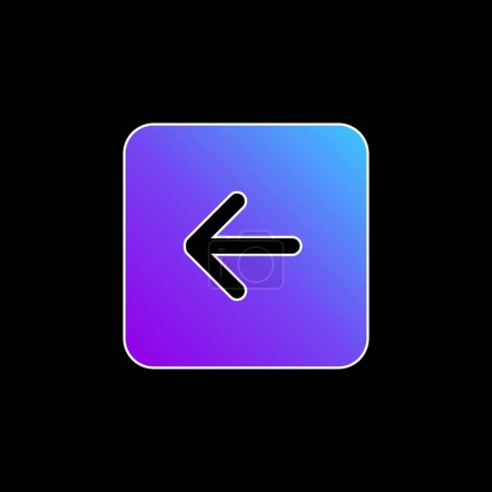 Back Black Square Interface Button Symbol blue gradient vector icon