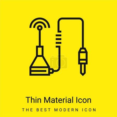 Illustration pour Antenne minimale icône de matériau jaune vif - image libre de droit