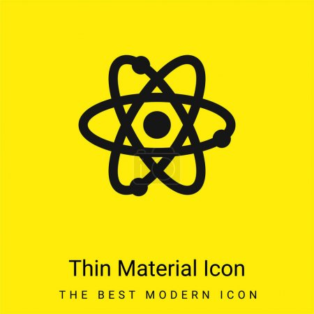 Photo pour Atom minimal icône de matériau jaune vif - image libre de droit