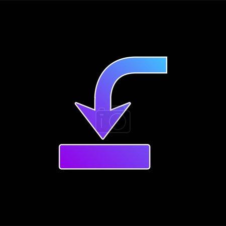 Illustration pour Flèche dans le symbole de lecteur icône vectorielle gradient bleu - image libre de droit