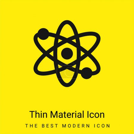 Illustration for Atom minimal bright yellow material icon - Royalty Free Image