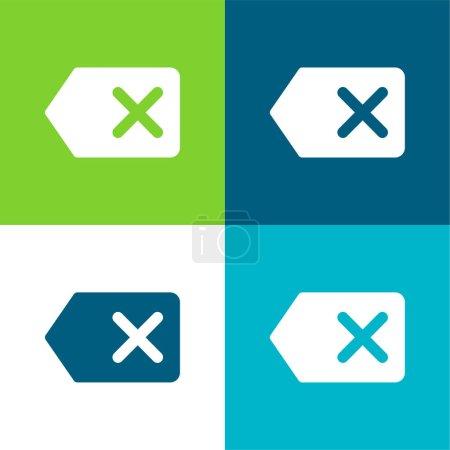 Backspace Flat four color minimal icon set