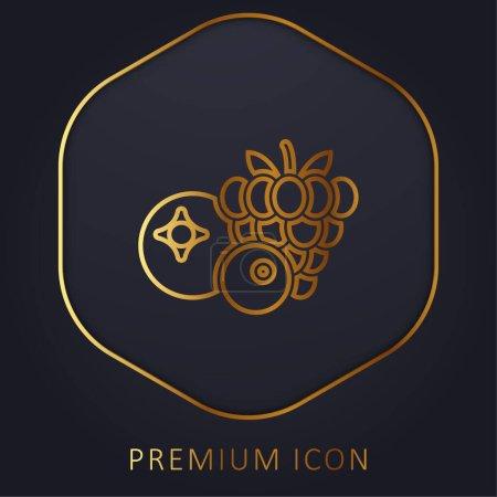 Illustration pour Baies ligne d'or logo premium ou icône - image libre de droit