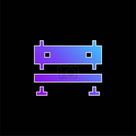 Photo for Bench blue gradient vector icon - Royalty Free Image