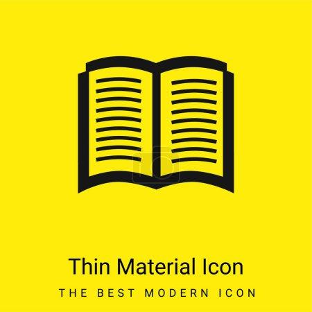 Illustration pour Livre ouvert Symbole minimal jaune vif icône matérielle - image libre de droit