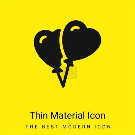 Illustration pour Ballons minime icône de matériau jaune vif - image libre de droit