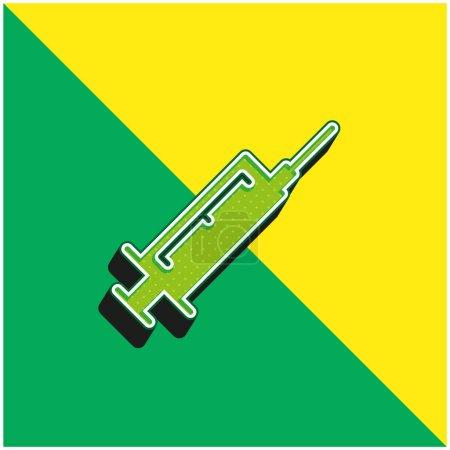 Botox Green and yellow modern 3d vector icon logo