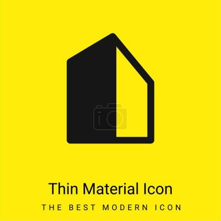 Photo pour Grand bâtiment minimal icône de matériau jaune vif - image libre de droit