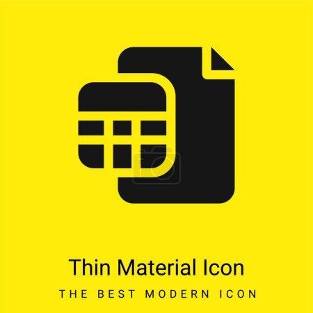 Photo pour Comptes minime icône matérielle jaune vif - image libre de droit