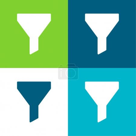 Big Funnel Flat four color minimal icon set