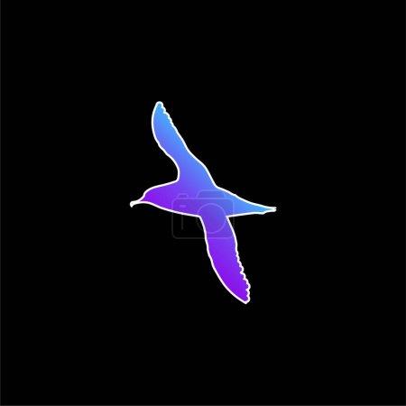 Photo pour Icône vectorielle de dégradé bleu en forme d'oiseau Albatros - image libre de droit