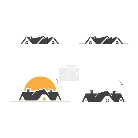 Photo pour Symbole immobilier icône de maison symbole de maison icône de loyer icône de bâtiment icône immobilière symbole immobilier - image libre de droit