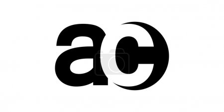 Monogram negative Space Letter Logo ac , a c