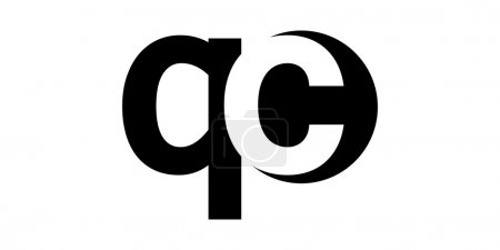 Monogram negative Space Letter Logo qc , q c