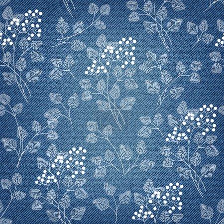 Denim background with pattern