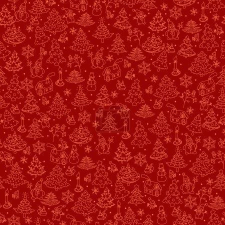 Christmas background seamless.