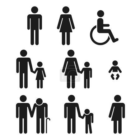 Bathroom symbols people icons