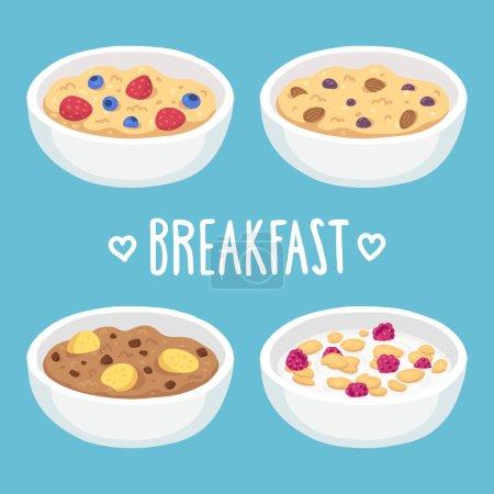 Breakfast cereal bowls