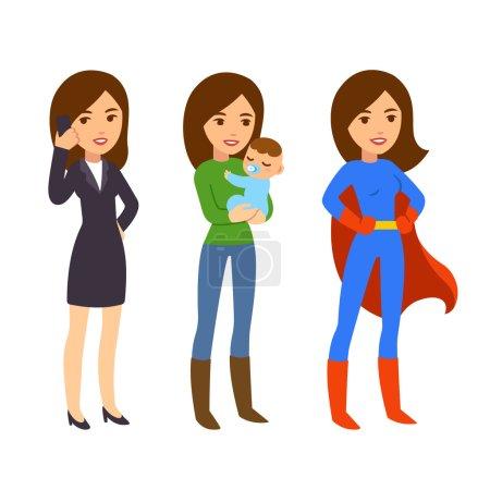 Super woman illustration
