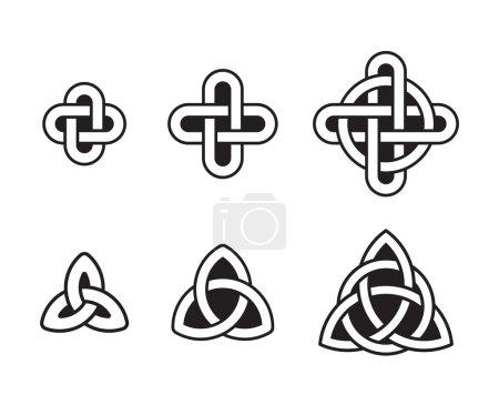 Celtic knots set, traditional ancient ornaments. V...