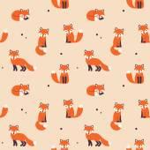 seamless fox pattern