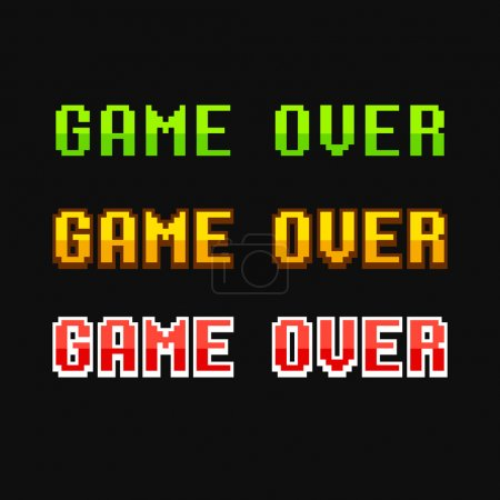 Game over 8 bit set