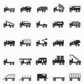 Kamiony symboly sada vektorové ilustrace