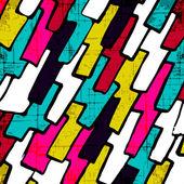 """Постер, картина, фотообои """"Граффити абстрактный геометрический узор на черном фоне"""""""